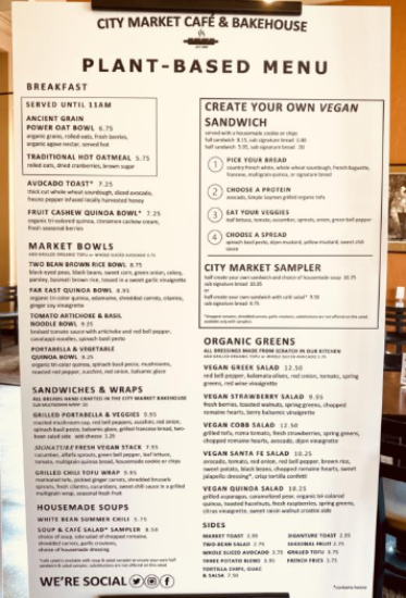 Try our new plant-based menu!