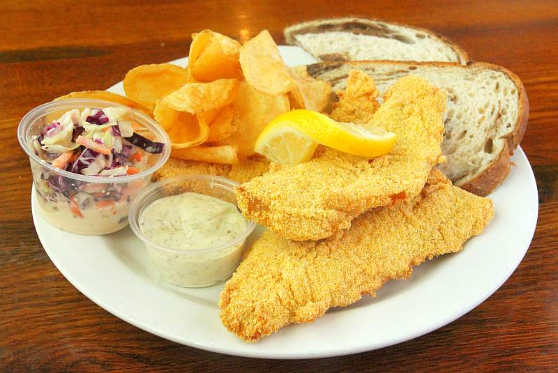Our Fish & Chips  Perch Plate and Homemade Coleslaw