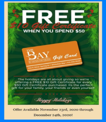 The Bay Holiday Gift Card Bonus Offer