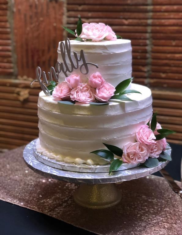 Fresh Floral Cake Decor