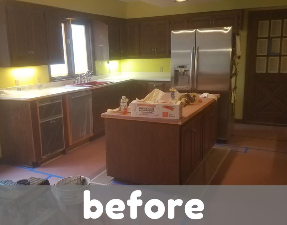 Kitchen Cabinets - Before