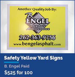 18 X 24 Yard Signs - Safety Yellow