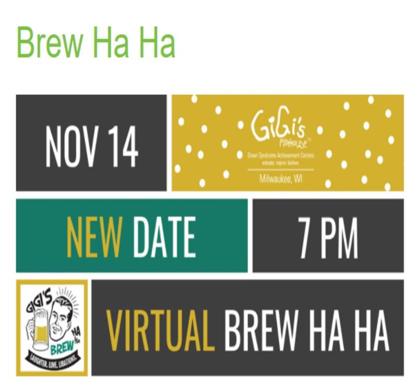 New Date-Attend GiGi's Brew Ha Ha from Comfort of Home-Nov.14-7pm
