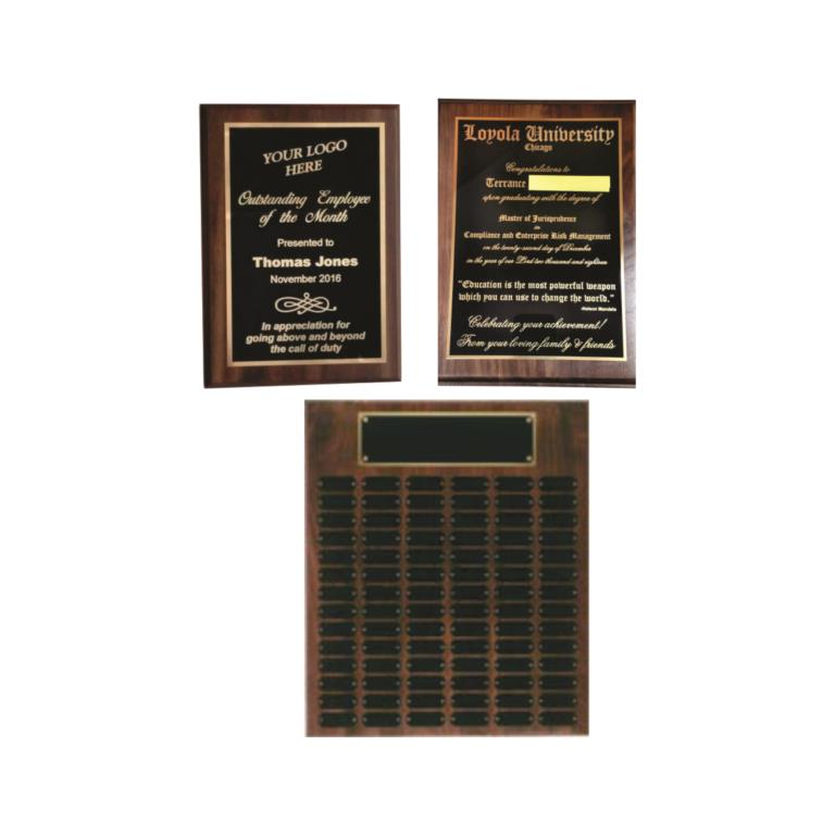 We offer a wide varity of ENGRAVED PLAQUES