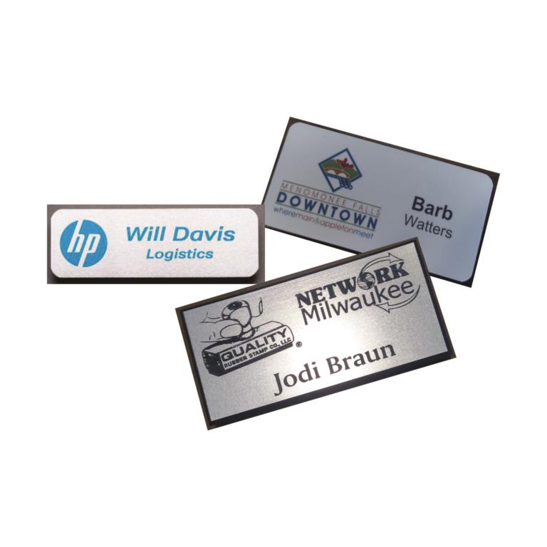 ENGRAVED OR FULL-COLOR NAME BADGES