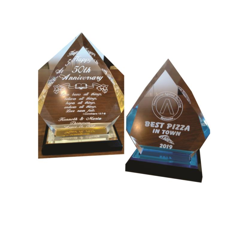 Wide Variety of ENGRAVED AWARDS-Shown: Iceberg Award