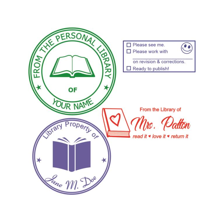Teacher & Personal Library Stamps