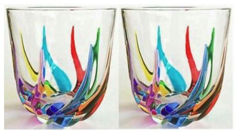 Exclusive Trix Italian Stemless Crystal Wine Glasses